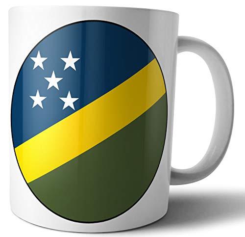 Salomon Islands – Salomon Island Flagge – Tee – Kaffee – Tasse – Tasse – Geburtstag – Weihnachten – Geschenk – Secret Santa – Strumpffüller