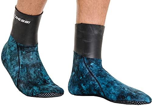 Cressi Sarago Socks 3mm Escarpines térmicas de Neopreno, Unisex-Adult, Azul Camuflaje, XXL