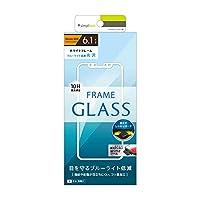 Simplism iPhone XR ブルーライト低減フレームガラス ホワイト
