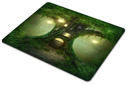 Smooffly Gaming Mouse Pad Custom,Fantasy Tree House in Forest Personality Gaming Mouse Pad Photo #2