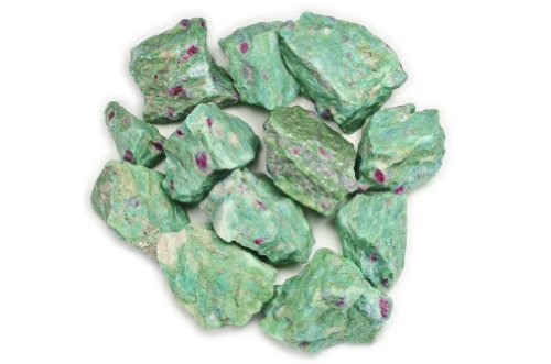 Hypnotic Gems Materials: 1 lb Ruby Zoisite Stones from Asia - Rough Bulk Raw Natural Crystals for Cabbing, Tumbling, Lapidary, Polishing, Wire Wrapping, Wicca & Reiki Crystal Healing