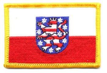 Flaggen Aufnäher Patch Thüringen Fahne Flagge NEU