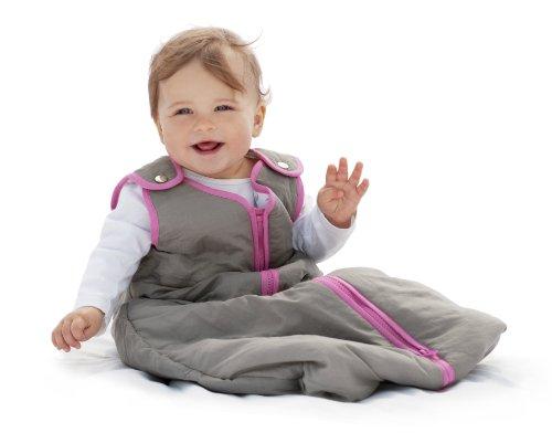 Baby Deedee Sleep Nest Sleeping Sack, Warm Baby Sleeping Bag fits Newborns and Infants, Slate Hot Pink, Medium 6-18 Months