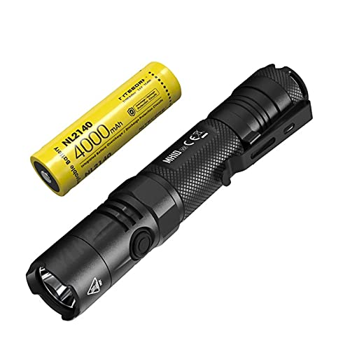 YDK MH10 V2 1200 Lumens Linterna Recta Portátil, Carga USB-C, Equipada con Batería De 4000Mah, Adecuada para Senderismo, Camping, Búsqueda