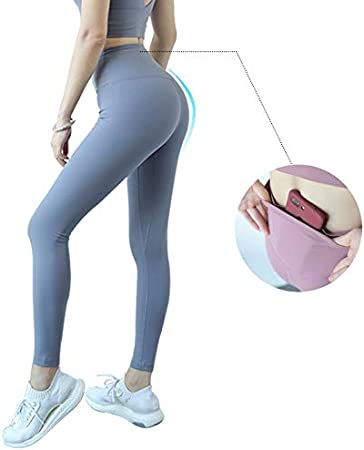Qlj03 Pantalones De Yoga Leggings Deporte Mujeres Fitness Legins Push Up Gimnasio De Cintura Alta Anti Sudor Leggins Con Bolsillo Entrenamiento Mas Tamano Joga Amazon Es Deportes Y Aire Libre