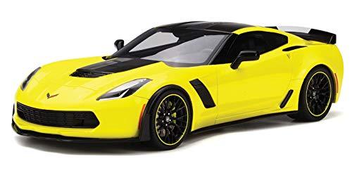 Chevrolet Corvette Z06-C7.R Edition, gelb/schwarz, 2016, Modellauto, Fertigmodell, GT Spirit 1:18