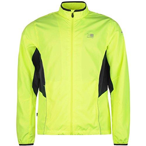 Karrimor Hombre Chaqueta Deportiva De Running Fluorescente Amarillo XL