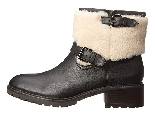 COACH Leather Ankle Bootie Saddle 9.5