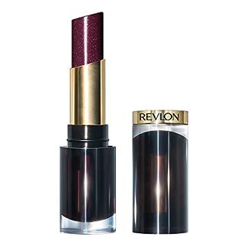 REVLON Super Lustrous Glass Shine Lipstick Flawless Moisturizing Lip Color with Aloe Hyaluronic Acid and Rose Quartz Black Cherry  012  0.15 oz