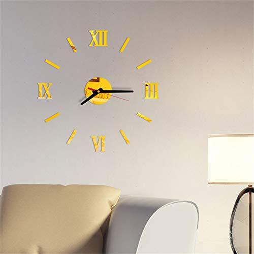 N/ A Decoración del hogar Reloj de Pared Grote Spiegel WandklokDiseño Grote Maat Wandklokken DIY Muursticke Unieke