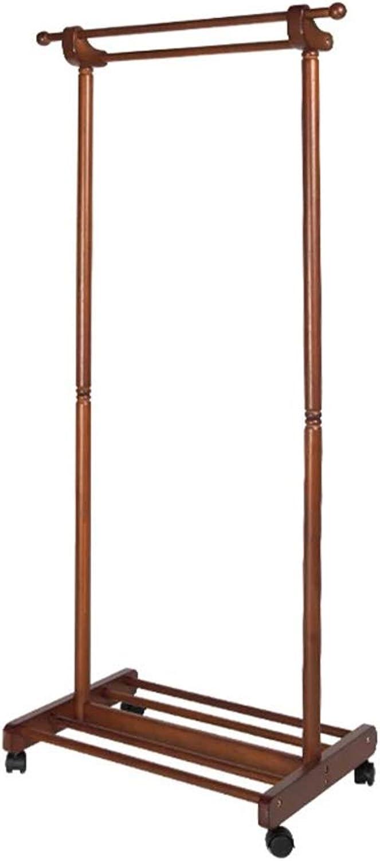 Liang Yu Floor Standing Coat Wooden Coat Rack,Hanger Floor Solid Wood Assembly Coat Rack Household Bedroom European Hanger Modern Minimalist Living Room Clothes Rack Size  45x60x155cm With Universal W