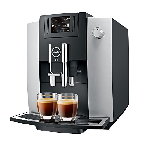 JURA 15079 E6 Coffee Machine, Platinu
