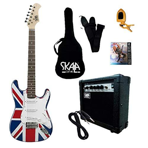 Paquete Guitarra Eléctrica Stratocaster Skala Inglesa