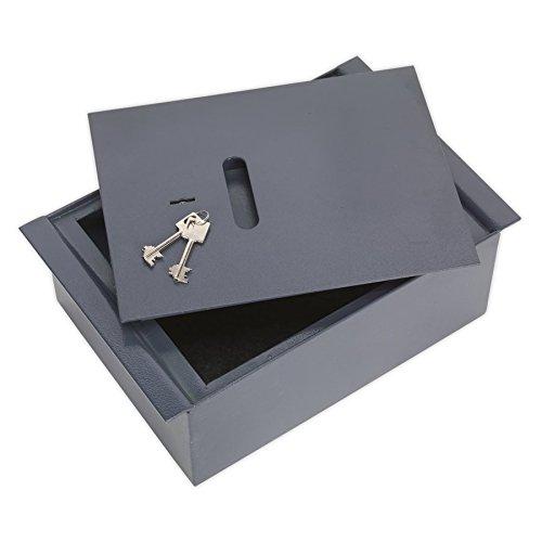 Sealey SKFS01 - Cassaforte da pavimento con chiave, in acciaio, misure: 260 x 400 x 140 mm