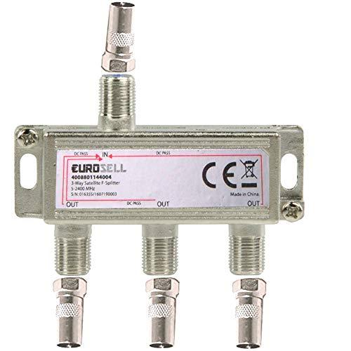 Eurosell - Cavo distributore a banda larga per TV DVB-T e via cavo, SAT DVBS DVBS2 DVBT DVBC Digital...