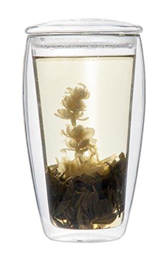 Feelino Teeset mit Teeblume, Glas, 400ml