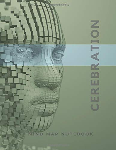 Cerebration: a Mind mapping and Hexagon grid notebook, large (8.5 x 11 inches) 100 pages
