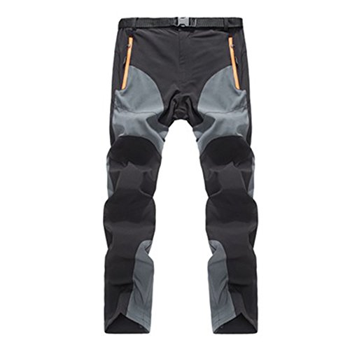forfar Unisex Dacron Windproof Quick Dry Hiking Pants (Grey, Standard Size)