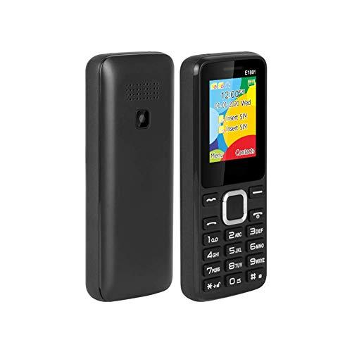 Teléfono móvil simple básico, tarjeta SIM dual con pantalla a color de 1,77 pulgadas, con linterna LED, reproductor de música para personas mayores, radio FM para personas mayores, ligero y duradero