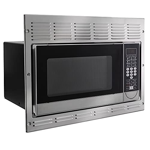 RecPro RV Convection Microwave Stainless Steel 1.1 cu. ft   120V   Microwave   Appliances   Direct Replacement for Greystone