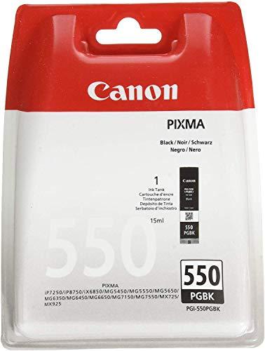 Canon PGI-550 PGBK Druckertinte - Pigment Schwarz 15 ml für PIXMA Tintenstrahldrucker ORIGINAL