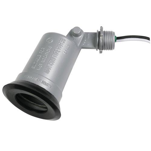 Hubbell-Bell LT100S Standard Outdoor Flood Light Lampholder, Gray