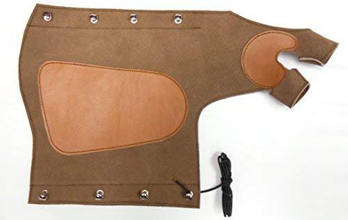 Protector de brazo tradicional con guante, disparando Protector de brazo. Mano izquierda.