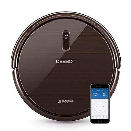 Ecovacs Deebot N79S - Robot Aspirador navegación aleatoria, App y Alexa, Wifi, 4 modos de limpieza, 2 niveles de succión, 60 dB, suelos duros y alfombras, detecta obstáculos y desniveles, negro