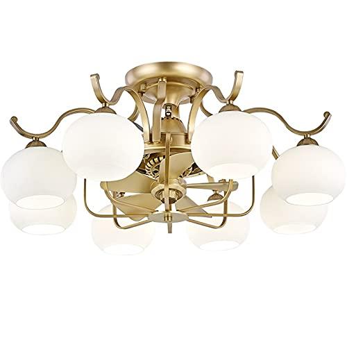 Soffitto Lampada Plafoniera Led Soffitto Ventilatori a soffitto moderno in cristallo ventilatore a soffitto a lama a soffitto a soffitto a soffitto in oro moderno con luci e telecomando scaduto Ventil