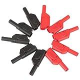 Leinggg Conectores Banana - 10Pcs 4mm Red/Black Safety Conectores de Enchufe Banana apilables Totalmente aislados