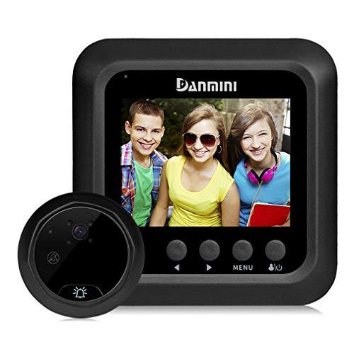 W5 2,4 inch slimme deurbel voor thuis PIR Mobiele detectiecamera Elektronische Cat Eye Black