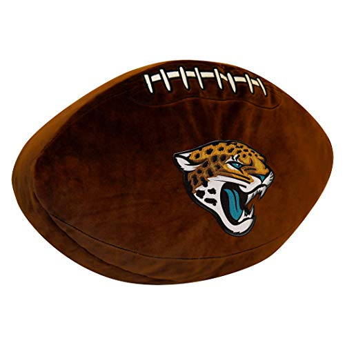 "NFL Jacksonville Jaguars Football 3D Sports Pillow, 19.5"" x 12"" x 2"""