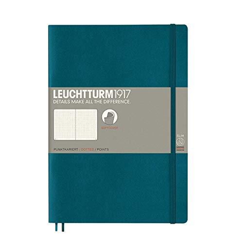Leuchtturm1917 Cuaderno de tapa blanda B5, diseño de puntos, color verde