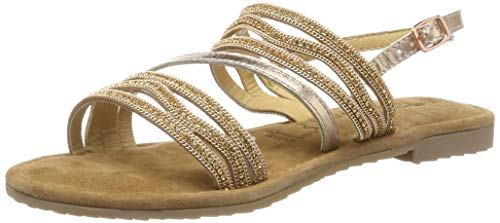 Tamaris Damen 1-1-28116-22 Riemchensandalen, Gold (Copper 901), 40 EU