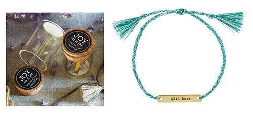 Creative Brands Joy in A Jar Adjustable Bracelet, Cotton, Girl Boss