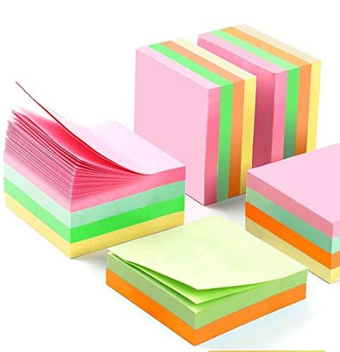 16 Stück Haftnotizen klebezettel 76x76 mm farbig 5 Farben selbstklebende Haftnotizzettel Sticky Notes 50 Blatt für Büro Schule Student Haus Erinnerungen