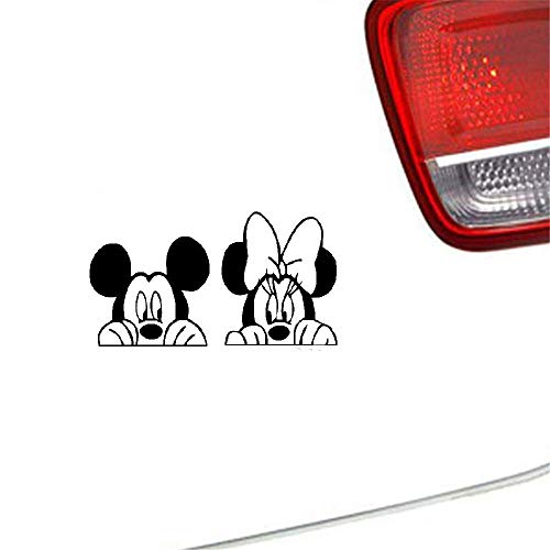 20cm hoch Mickey und Minnie Mouse Thema Autoaufkleber Mickey und Minnie Mouse Kopf niedlichen Kindergarten Kinder dekorative Wandbilder Art Diy