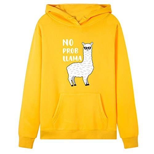 Fossen MuRope Sudaderas Adolescentes Chicas de Vestir Estampado de Alpaca, Pullover Hoodies...
