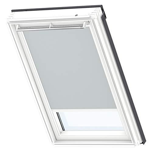 VELUX Original Verdunkelungsrollo für Dachfenster mit weißen Seitenschienen, PK06, Uni Grau/DKL PK06 1705SWL