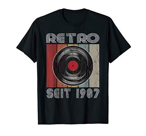 Geburtstag 1987 Retro Vintage Schallplatte Jahrgang 1987 T-Shirt