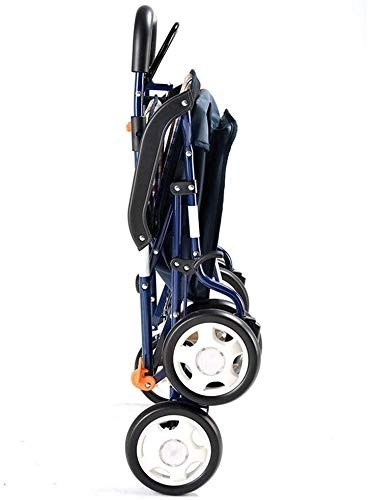 XXY.XXY Rollstuhleinkaufswagen-faltbarer tragbarer Einkaufswagen/Einkaufswagen/Lebensmittelgeschäft-Wanderer-Wanderer mit vier Rädern/leichter zusammenklappbarer Stuhl, verwendbar für Senioren und P