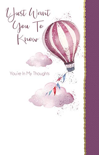 """Cherry Orchard (ML223) Grußkarte mit Luftballon und englischer Aufschrift """"Thinking of You"""" - Just Want You To Know You're in My Thoughts"""""""