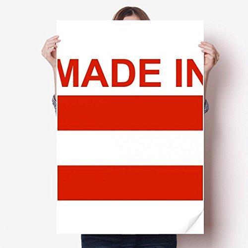 DIYthinker gemaakt in Oostenrijk land liefde Vinyl muur Sticker Poster muurschildering behang kamer Decal 80X55Cm