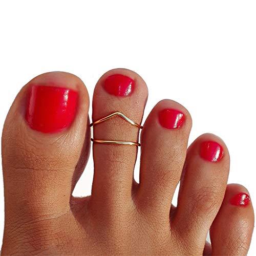 Sperrins Women's Toe Ring Simple Letter V Foot Ring