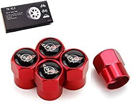 TK-KLZ 5Pcs Car Wheel Tires Valve Stem Caps for Chevrolet Corvette C5 Decorative Accessory