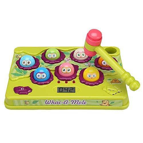 weizai Hammerspielzeug Kinderspielzeug Elektrische Spielekonsole Bunte Lichter, Um Den Hamster Zu Schlagen Spielzeug Klopfen Lernspielzeug Für Kinder