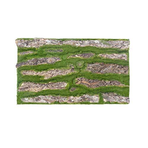 CVERY 2 piezas de corteza artificial de 30 x 50 cm, decoración del hogar, decoración de tubos, plantas verdes para interior exterior, interior, jardín, cerca, patio trasero y decoración