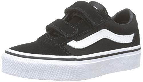 Vans Ward V-Velcro, Zapatillas para Niños, Negro ((Suede/Canvas) Black/White Iju), 39 EU