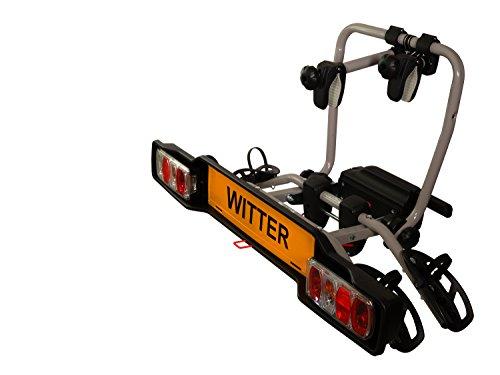 Witter Towbars ZX302EU Fahrradträger für die Anhängerkupplung – Kupplungsfahrradträger für 2 Fahrräder abklappbar – Heckträger inkl. 7- bzw. 13-poligem Anschluss mit 34kg Zuladung