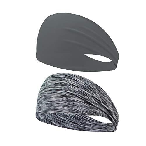 BESPORTBLE Packung mit 2 Sportstirnbändern Schweißfeste Kopfbedeckungen mit Yoga-Sportkopfbedeckung zum Radfahren